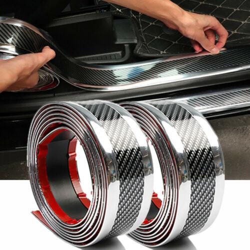 Car Parts - Carbon Fiber Vinyl Car Stickers Door Sill Protector Parts Accessories US SHIP