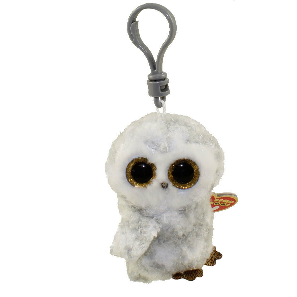 NEW Ty Beanie Boo Key Clip Owlette the Owl Soft Plush Collec