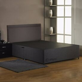 Brand New 4FT6 Double Bed Set ( Black Base + Orthopaedic Mattress ) Fast Delivery.....