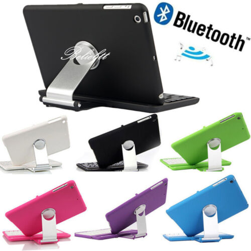 For Apple iPad Mini 1 2 3 Stand Case Cover With Bluetooth Ke