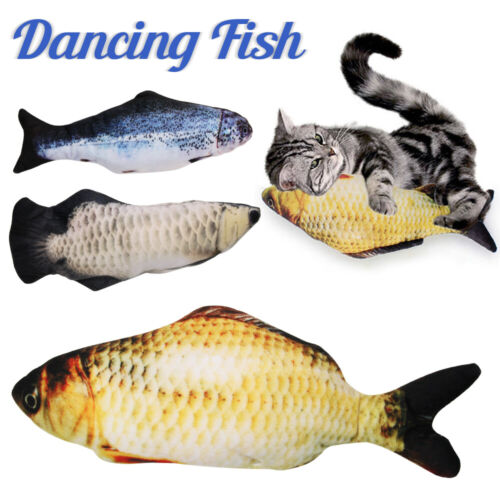 Electric Cat Wagging Fish Realistic Plush Simulation Carp Doll Fish Plush Toy Cat Supplies