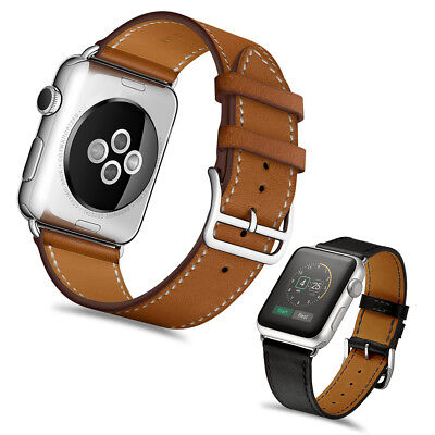 Genuine Leather Classic Watch Band Strap for iWatch Apple Watch Series 4/3/2/1 Classic Cell Phone Case
