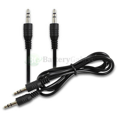 100X 3FT 3.5mm Virile to Male Stereo Audio AUX Radiogram Cord for PC iPod CAR iPhone