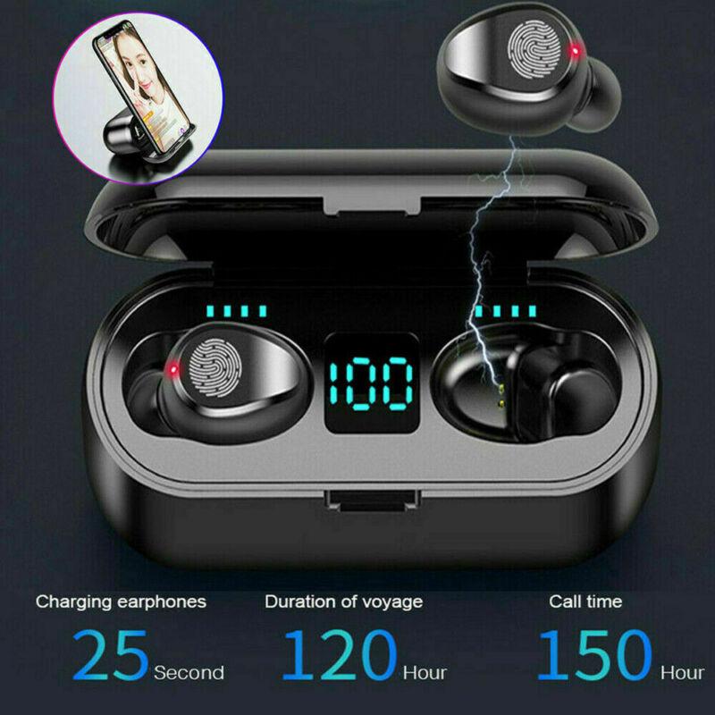 Bluetooth 5.0 Wireless Earbuds Headphone Headset Noise Cancelling TWS Waterproof