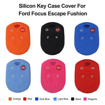 4 Buttons Silicon Key Cover Case Remote Fob For Ford Focus Fushion Escape Edge