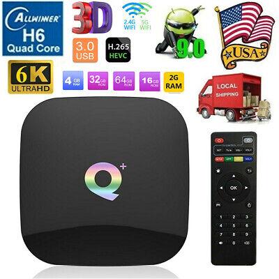 Q Plus 4GB/32GB Smart TV Box Android 9.0 H6 6K Media Player USB3.0 2.4G WiFi HDR