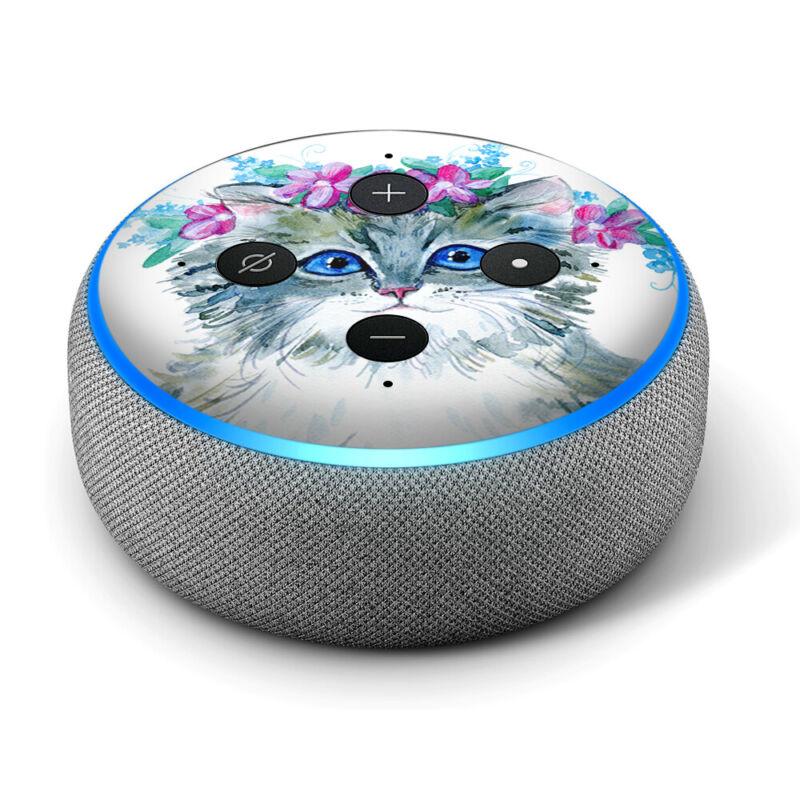 Vinyl Decal Skin for Amazon Echo Dot 3rd Gen - Boho Cat