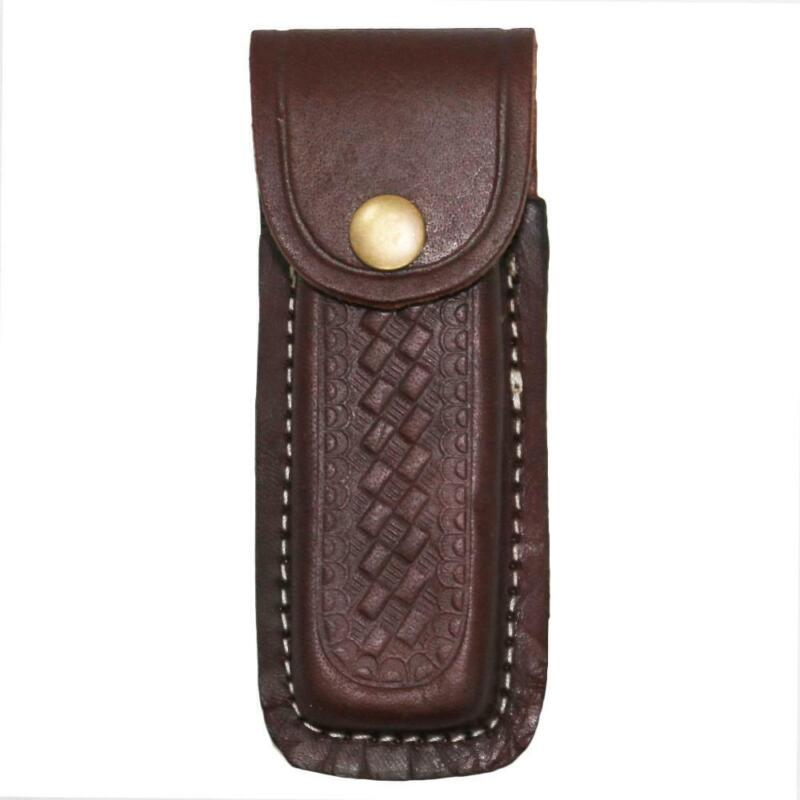 """5"""" Brown Leather Knife Case Sheath"""