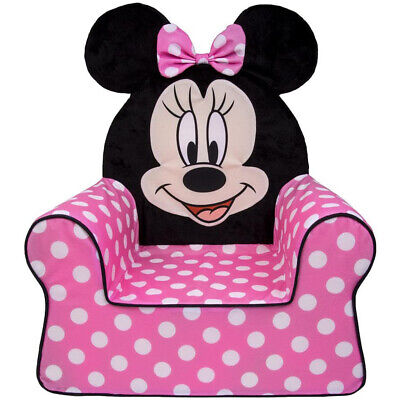 Marshmallow Furniture Foam Toddler Kid's High Back Chair, Polka Dot Minnie Mouse