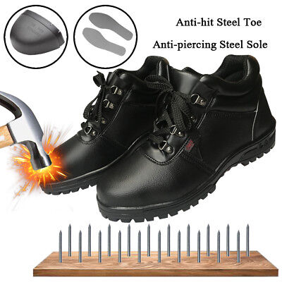 Men's Safety Shoes Waterproof Steel Toe Steel Sole Leather Work Boots US (Mens Waterproof Safety Shoes)
