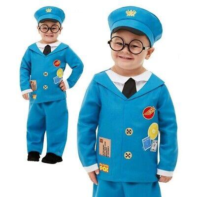 Kids Mailman Costume (Toddlers Kids Postman Pat Costume Book Week Day Boys Girls Fancy Dress)