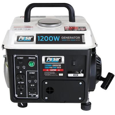 Pulsar 1200-watt Quiet Portable Gas Powered Generator Home Rv Camping Tailgating