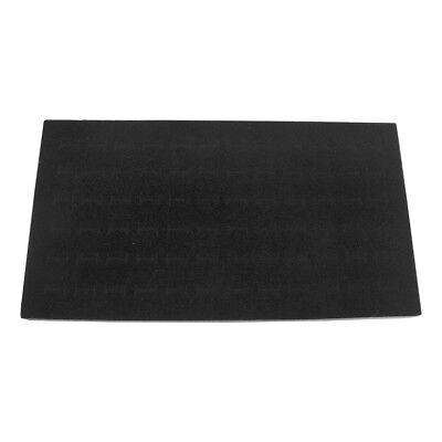 Foam 1/2 Inch Height Pad 72 Ring Inserts Tray Jewelry Display - BLACK VELVET