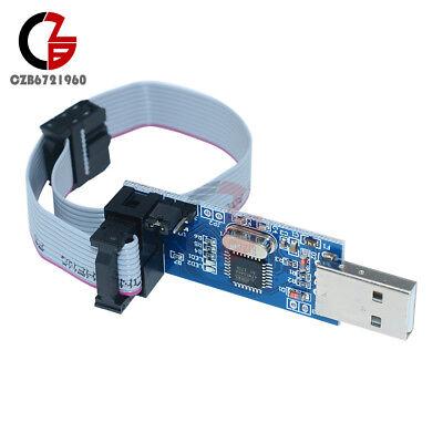 2pcs Usbasp Usbisp Avr Programmer Adapter 10 Pin Cable Usb Atmega8 Atmega128