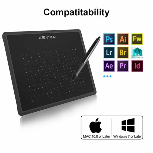 Huion 4x2.23 inches USB Art Design Graphics Drawing Tablet B