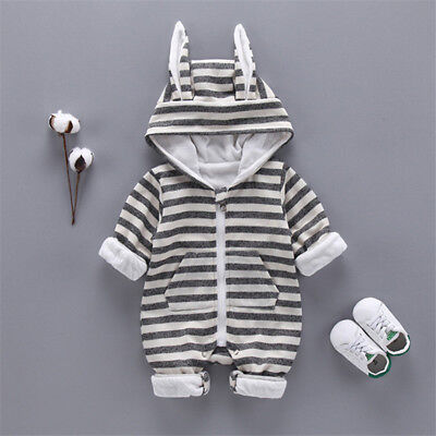 Bunny Clothes For Girls (Newborn Baby Girls Boys Clothes Romper Cotton Stripe Long Sleeve Bunny Outfits)