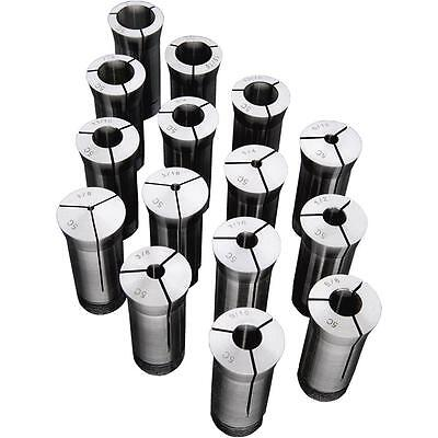 Steelex 15 Pc Precision 5-c Collet Set For Precise Machining Turning M1088 New