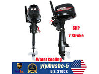 HANGKAI 6HP 2-Stroke Outboard Motor Fishing Boat Engine Water Cooling&CDI System