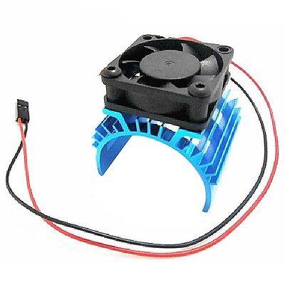 Heatsink & Cooling Fan Aluminum for 1:10 HSP RC Car 540 550 3650 Size Motor  F