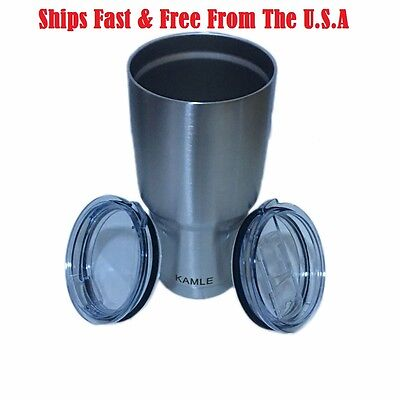 f3bfecbb8b Tumbler Stainless Steel Includes 2 Lids - Normal + Spill Proof NEW