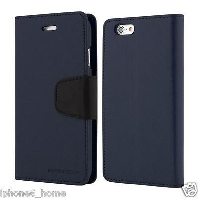 iPhone 5 5s SE Genuine Goospery Navy Blue Flip Case Wallet Cover FREE Shipping (Ip5 Wallet)
