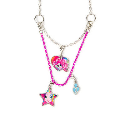 My Little Pony Pinkie Pie Necklace Equestria Girls 3 in 1 Hasbro MLP NWT