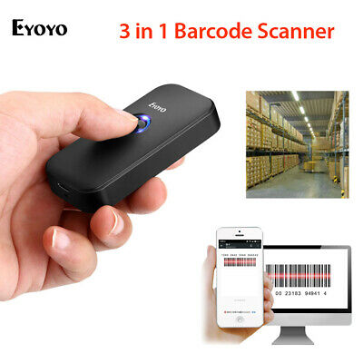Eyoyo 2.4g Wireless Wired Bluetooth Barcode Scanner For Phone Iphone Tablets