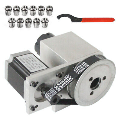 4th Rotary Axis Hollow Shaft Cnc Engraving Machine Er32 Collet Chuck Set 320mm