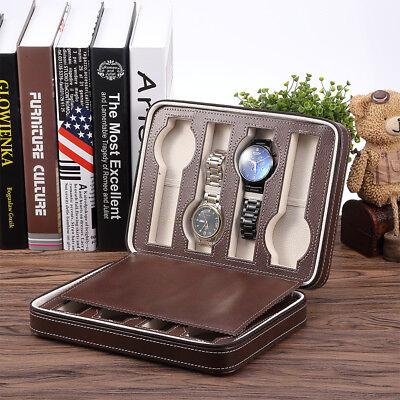 Top Uhrenkoffer Uhrenbox PU Leder für 8 Uhren Schaukasten Uhrenkasten Reiseetuis