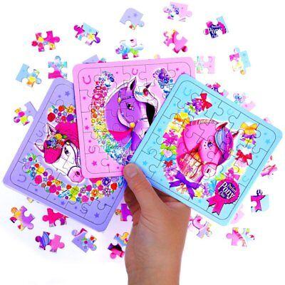 - 12 x Pferde Party - Puzzle | Kindergeburtstag | Mitgebsel  (Geburtstag Puzzle)