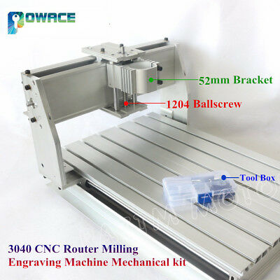 3040 Desktop 52mm Bracket Cnc Router Engraving Machine Frame 1204 Ballscrew Kit