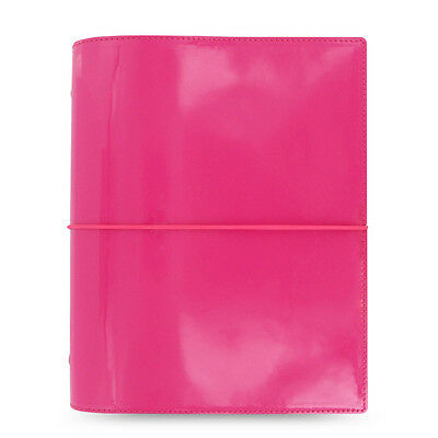 Fashion Filofax A5 Domino Patent Organiser Planner Notebook Diary Book New Pink