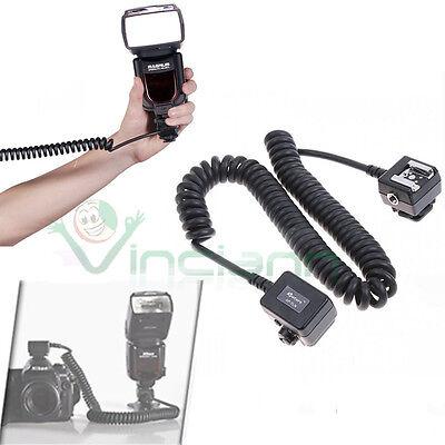 Cable Ttl Cable de Extensión Flash Exterior Para Cámara Nikon De 50cmA...