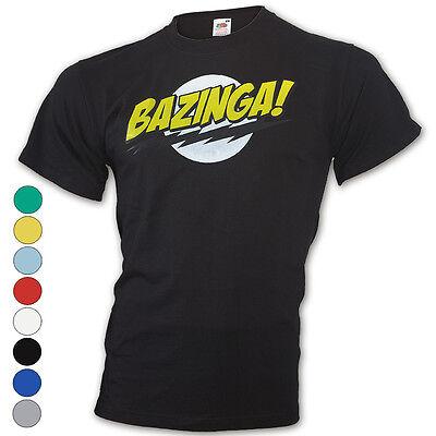 ★T-Shirt - The Big Bang Theory - Sheldon-Bazinga- Comic - Polo-Fun Neu S-XXL ★