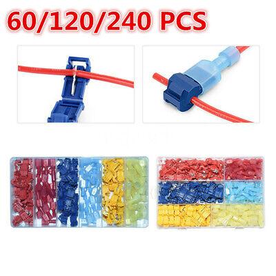 240pcs Quick Splice Scotch Lock T Tap Wire Crimp Cable Terminals Connectors Kit
