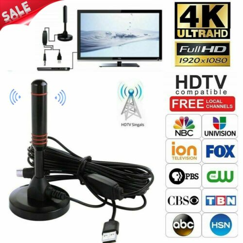 1080p 4K 200 Mile Range TV Antenna Digital HD Skywire Indoor