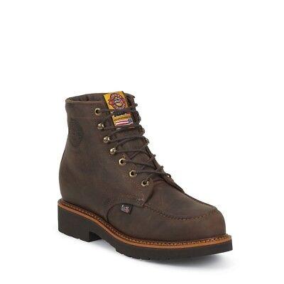 Justin Men's Rugged Chocolate Gaucho Steel Toe Boots CD433 (Justin Mens Chocolate)