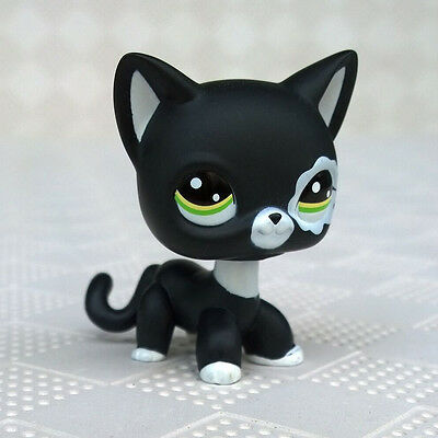 LPS #2249 Littlest Pet Shop Collection Short Hair Cat Black Kitty Standing Toys](Black Kitty)