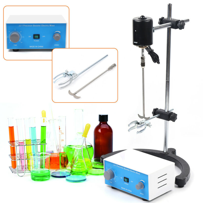 110W Electric Lab Blender Set Drum Stirrer Overhead Shaker Speed Control 3000rpm