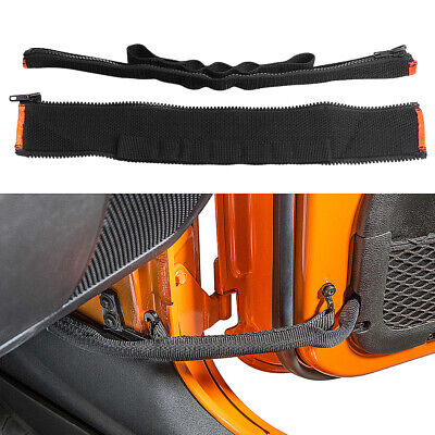 2Pcs For Jeep Wrangler 6 section door position adjustable strap with zipper