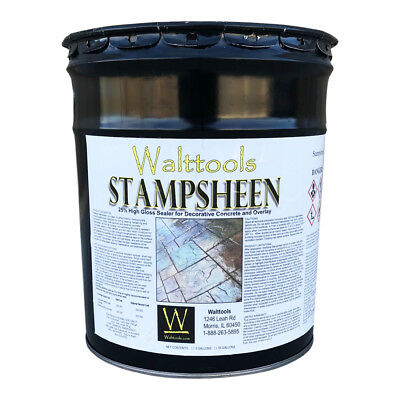 Walttools Stampsheen High-gloss Decorative Concrete Sealer 5 Gallon