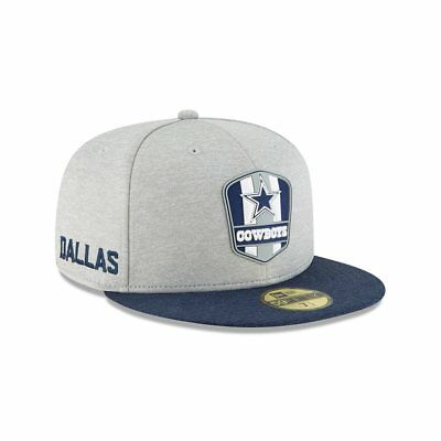 free shipping ef5cb 07872 Dallas Cowboys Cap Sideline 2018 Road NFL Football New Era 59fifty 7 5 8
