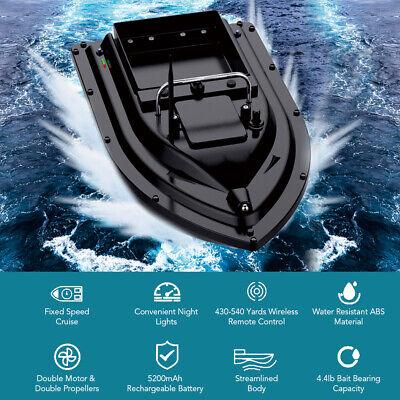 Wireless Fischerköder Futterboot Köderboot Baitboat Beleuchtung Nachtangeln T8Y1