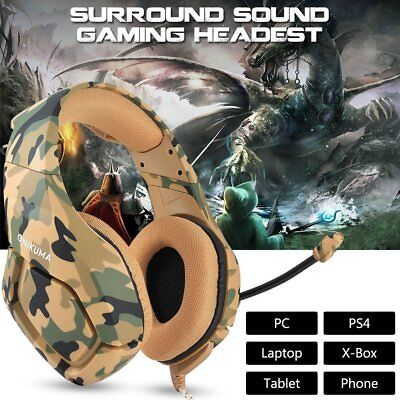 ONIKUMA K1 Stereo Gaming Headsets Headphones with Mic for PS4 New Xbox One PC