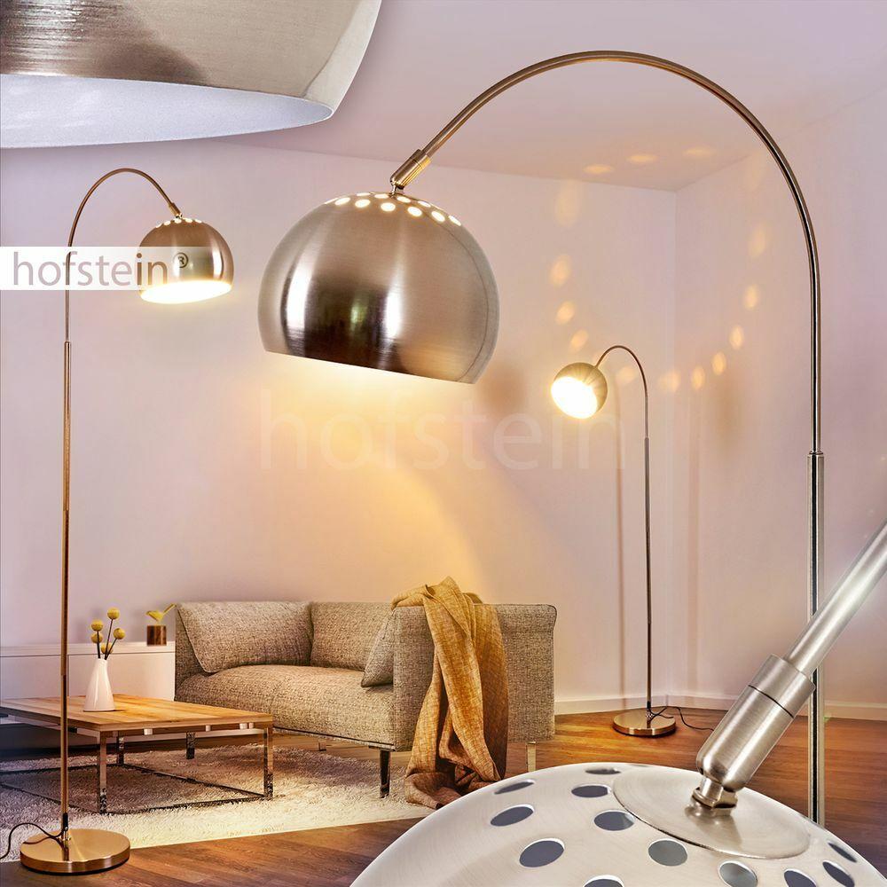 Bogen Steh Stand Lampe Schlaf Wohn Zimmer Beleuchtung Lese Leuchte verstellbar