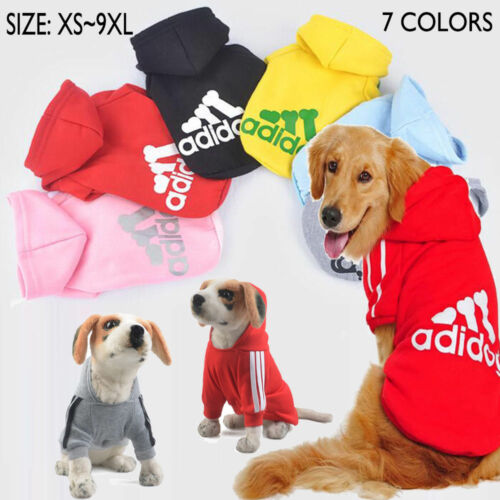 Pet Dog Coat Jacket Fall Winter Clothes Puppy Sweater Hooded Clothing Apparel UK 2