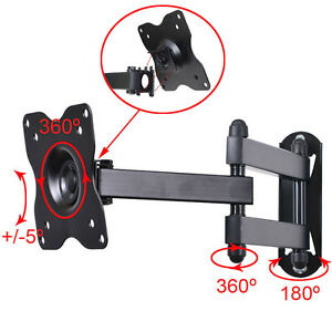 Full Motion Tilt Swivel Wall Mount Bracket for Vizio 19 22 24 26 29 32LED TV cza
