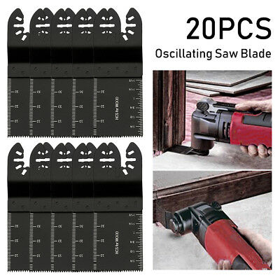 20 Pack 34mm Oscillating Multi Tool Saw Blades Carbon Steel Cutter DIY Universal