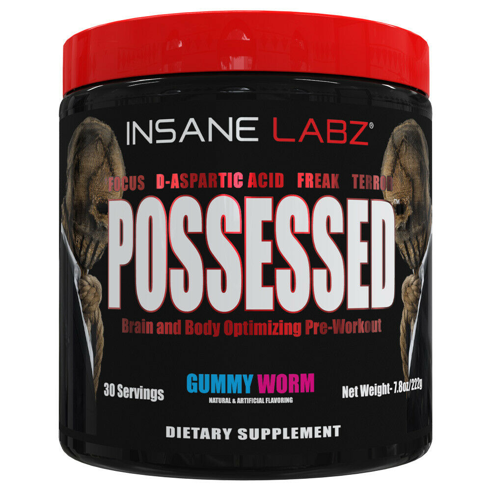 INSANE LABZ - POSSESSED - PRE WORKOUT - TEST BOOST - 30 SERVINGS - 2 FLAVORS