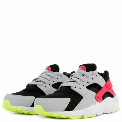Nike Huarache Run GS Youth Shoes Size 5.5Y 654275-038 Wolf Grey Black Rush Pink